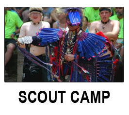 scout camp button